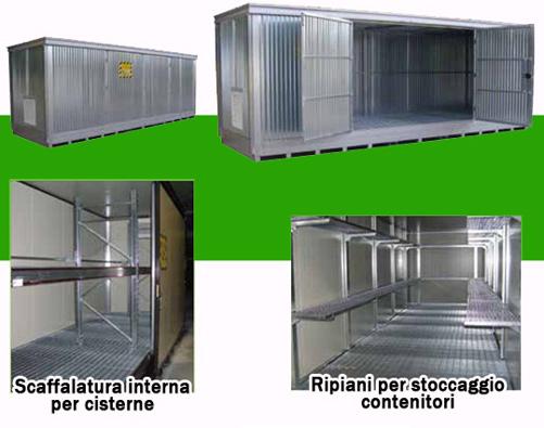 Container stoccaggio inquinanti e infiammabili in acciao for Ammortamento arredi ufficio