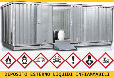 deposito container liquidi infiammabili