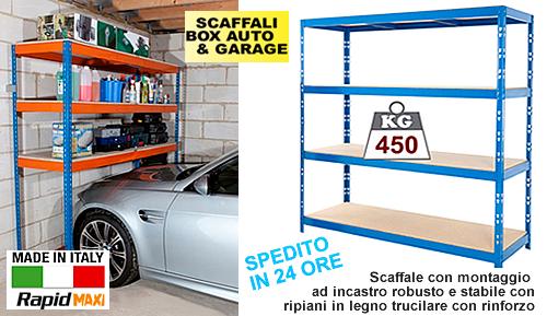 Scaffali box ad incastro