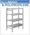Scaffali alluminio e polipropilene