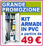 Armadietti PVC in KIT
