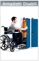 Armadietti spogliatoio disabili