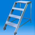 Sgabello industriale in alluminio 3, 4, 5 gradini