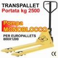 Transpallet manuale economico Kg. 2500