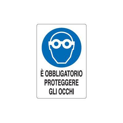 Cartelli obbligo protezione occhi