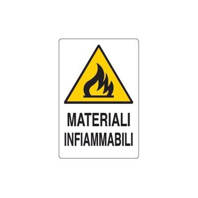 Cartelli avvertimento materiali infiammabili