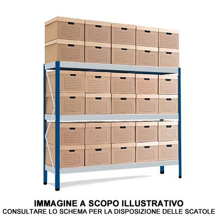 Scatole Per Scaffali.Scaffale Archiviazione 32 Scatole
