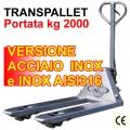 Transpallet manuale acciaio INOX