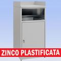 Pattumiera svuota vassoi zinco plastificata