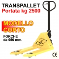 Transpallet manuale a forche da 950 mm.