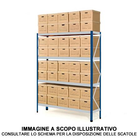 Scatole Per Scaffali.Scaffale Archiviazione 44 Scatole