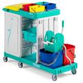 Carrelli pulizie professionale in polipropilene 150 lt