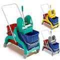 Carrelli strizzatori maniglia in RILSAN 30-50 lt