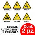 Segnali di pericolo adesivi per pavimento