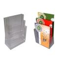 Porta flyer da banco in plexi 3 tasche A4