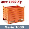 Contenitore in lamiera da 1000x800 mm