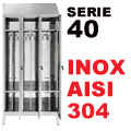 Armadietto Acciaio Inox Sporco/Pulito Aisi 304 P40