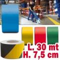 Nastro adesivo segnaletica orizzontale H 7,5 cm