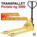 Transpallet manuale portata Kg 3000