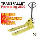Transpallet Kg 2500  con freno a leva