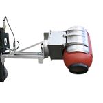 Ribaltafusti idraulico INOX a rotazione laterale