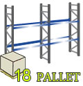 Scaffali portapallet 18 Posti - H.300 cm