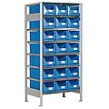 Scaffale porta-minuterie a 21 contenitori