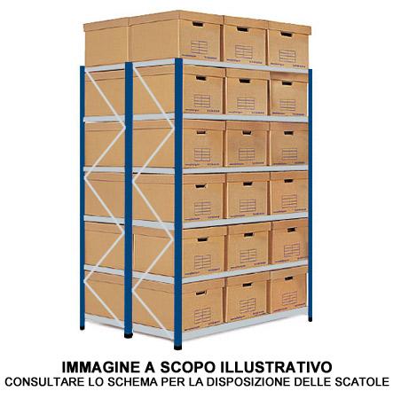 Scatole Per Scaffali.Scaffale Doppio Per Archiviazione 64 Scatole