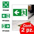 Pittogrammi adesivi uscite di sicurezza