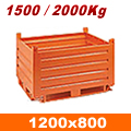 Contenitore in lamiera 1200x800