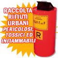 Cassonetti rifiuti urbani pericolosi 100 lt.