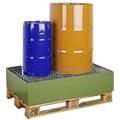 Vasche di raccolta senza grigliato per fusti da 200Lt