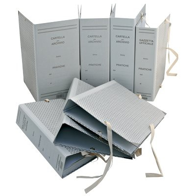 Faldoni rivestiti in carta Euro-Cart - D 10 cm - f.to 25x35 cm