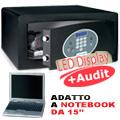 "Cassaforte a mobile serratura elettronica, notebook 15"""