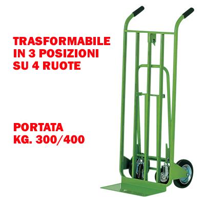 Carrello trasformabile 4 ruote 3 posizioni for Ammortamento arredi ufficio