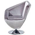 Poltrone moderne tessuto lucido grigio