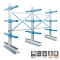 Cantilever 3 colonne Bifronte