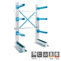 Scaffalatura Cantilever a 2 colonne in kit