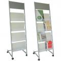 Porta cataloghi e listini FRONTALE, in metallo