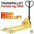 Transpallet manuale professionale a 4 rulli