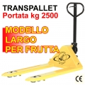 Transpallet a forche larghe