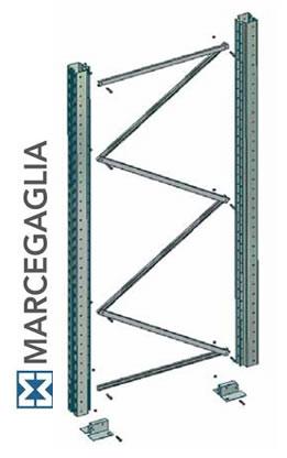 Scaffalature Metalliche Marcegaglia.Spalla Marcegaglia Serie Bi Bloc