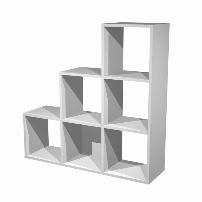 Libreria a scalare a 6 caselle for Case facili da costruire