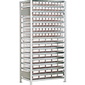 Scaffale 110 cassettine trasparenti
