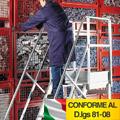 Scala in alluminio su ruote | Portata max. 200 kg.