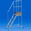 Scala con protezione in alluminio
