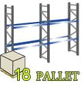 Scaffale per pallet 18 Posti - H.300 - L.565 cm