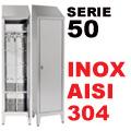 Armadietti Acciaio Inox Sporco/Pulito Aisi 304 P50