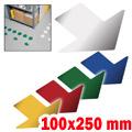 Frecce adesive da pavimento 100x250
