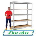 Scaffale per box zincato cm. 180x60x250